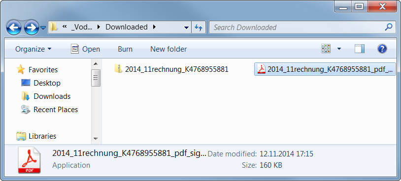 Icon of the executable file