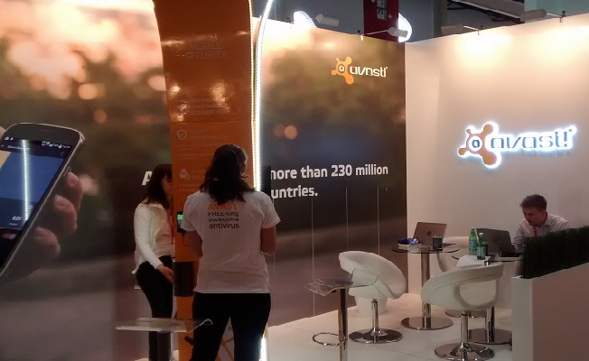 Avast booth at MWC15