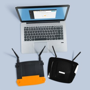 laptop and routers