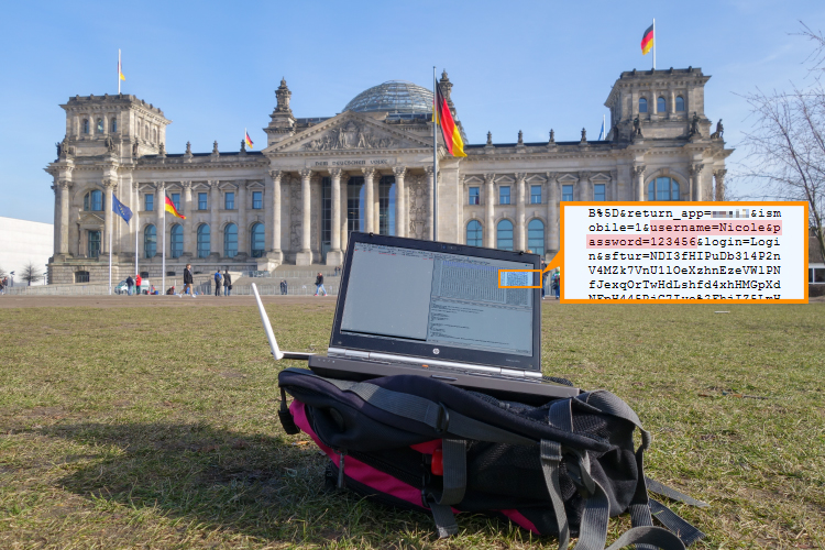wifi experiment Bundestag