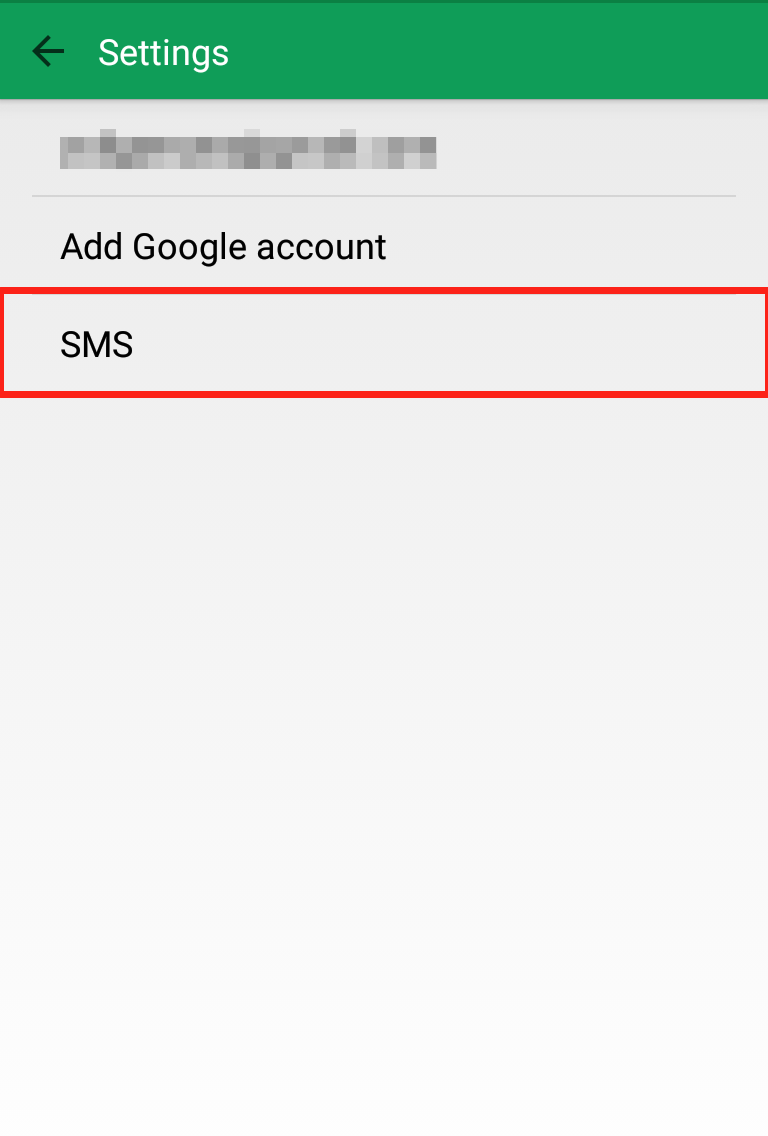 Google Hangout settings