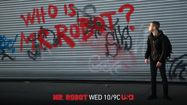 via USA Network - Mr. Robot airs on USA Network Wednesdays at 10/9 central