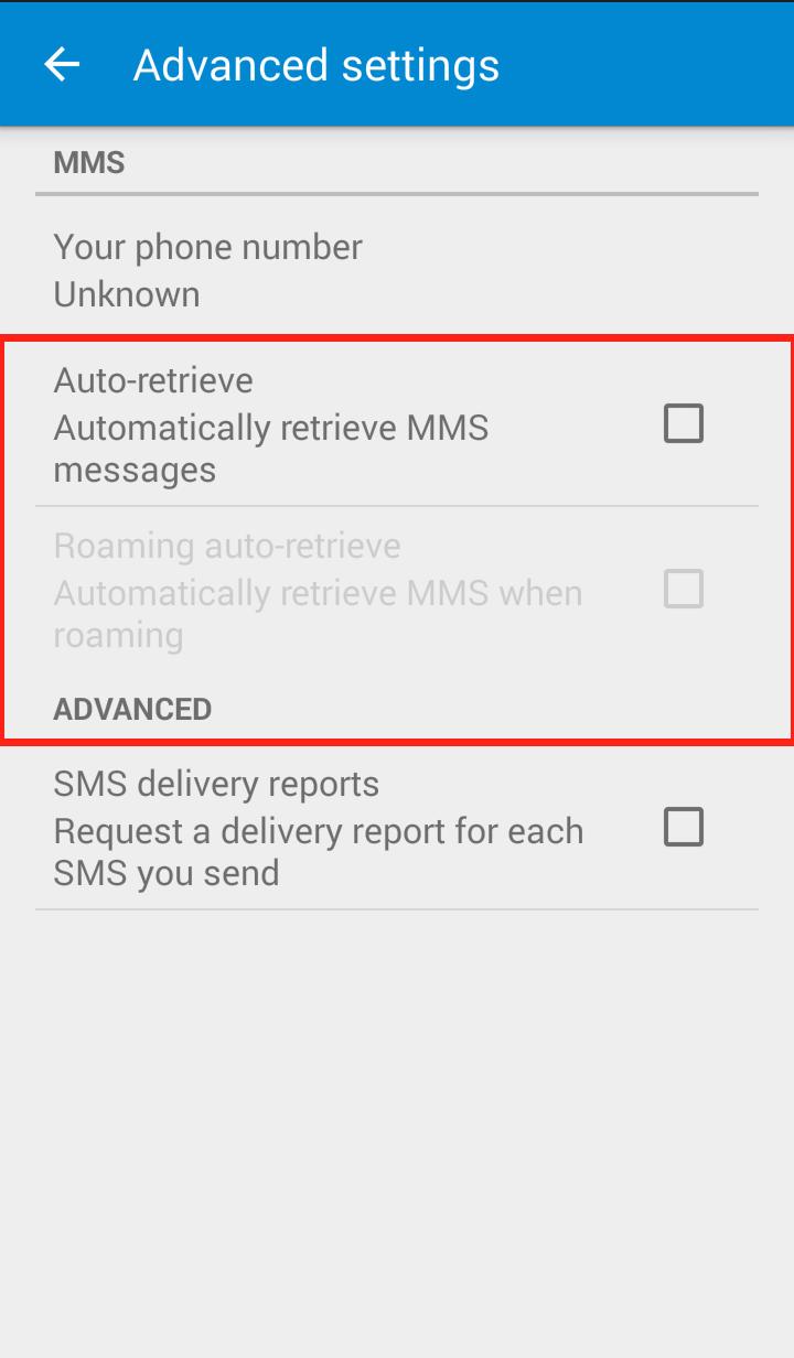 Messenger app settings