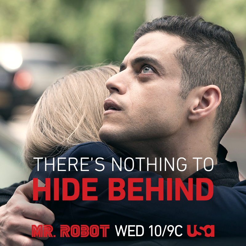 Mr. Robot airs on Wednesdays at 9/10 central on USA
