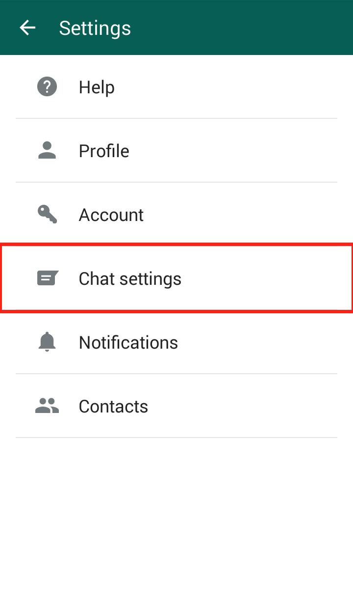 Whatapp settings