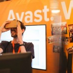 Exploring at the Avast booth