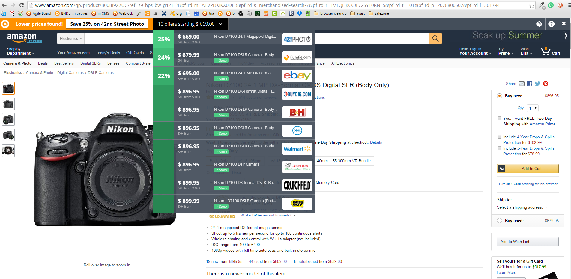 Avast SafePrice finds the best prices from trusted retailers