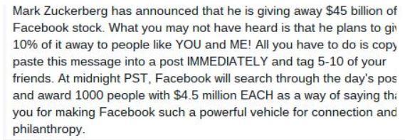 Facebook newsfeed hoax Metro