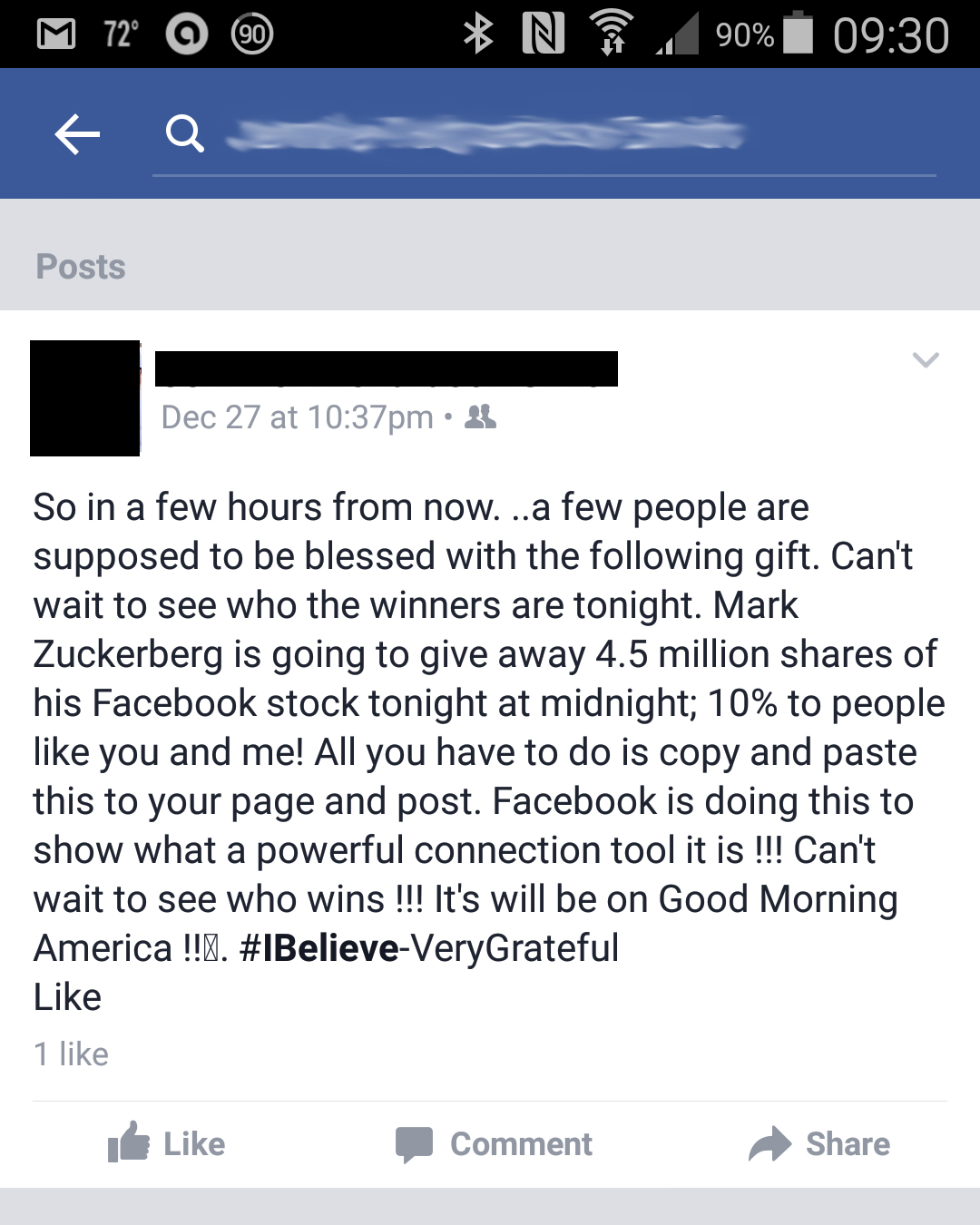 Good Morning America Zuckerberg Give Away : Hoax software