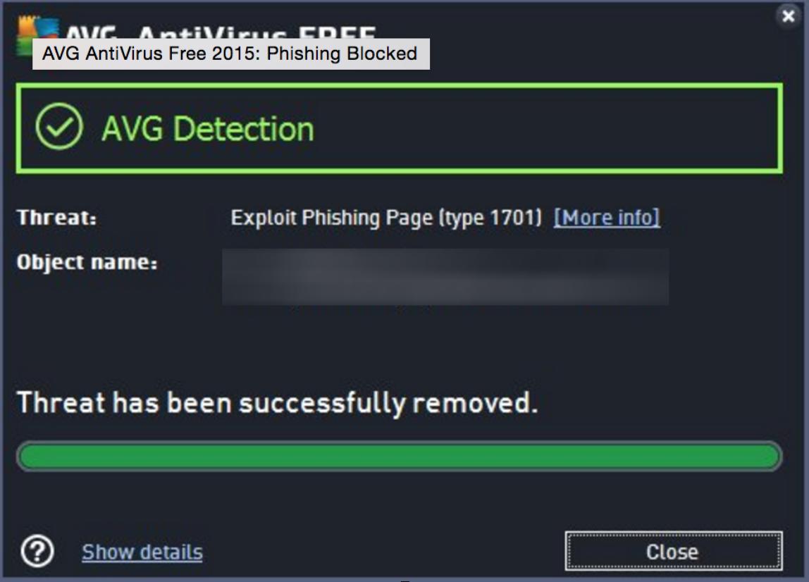 phishing detected