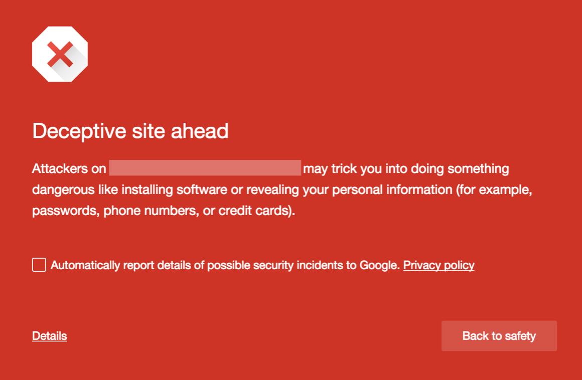 phishing warning