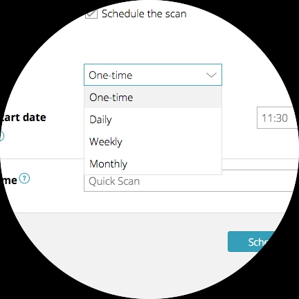 Select how often your task should run