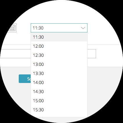 Select the time your task should run