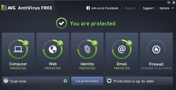 Screenshot of AVG AntiVirus Free