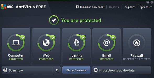 Screenshot of AVG AntiVirus Free