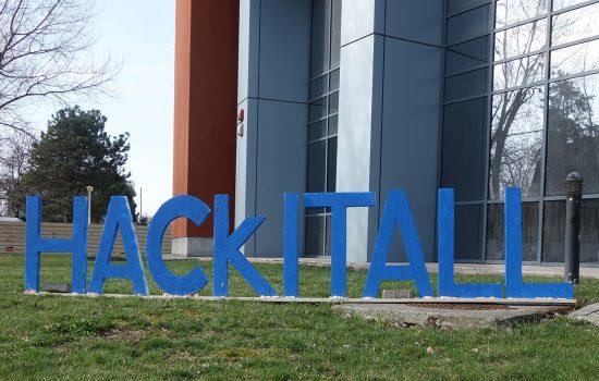 HackITAll hackathon - 60 students, 20 teams, 3 winners, 1 Polly